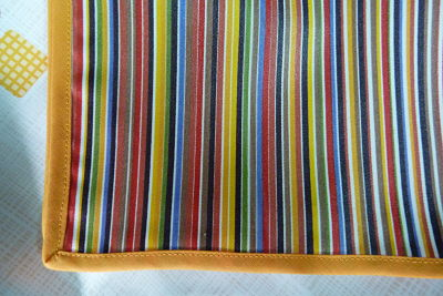 Mantel resinado modelo rayas verano